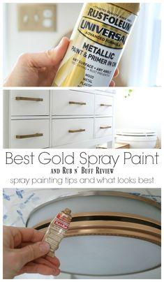 Spray Paint Mirror, Best Gold Spray Paint, Spray Paint Cabinets, Spray Paint Tips, Spray Paint Colors, Metallic Spray Paint, Spray Paint Metal, Gold Paint, Spray Painted Chandelier