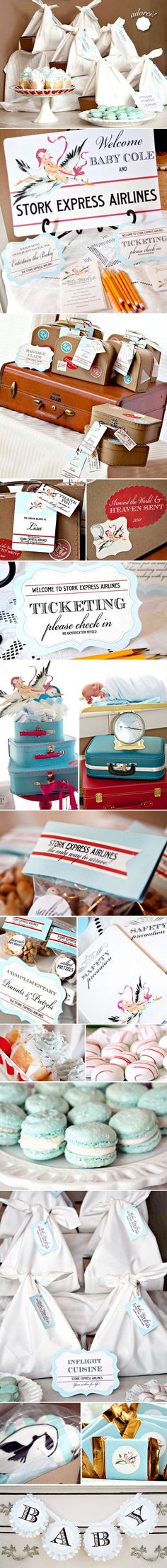 baby shower with travel theme.