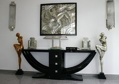 Art deco decor, art deco era, art deco home, bauhaus, art deco fa Art Deco Decor, Art Deco Home, Art Deco Design, Art Deco Furniture, Furniture Design, Art Nouveau, Muebles Art Deco, Art Et Architecture, Estilo Art Deco