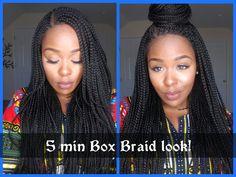 5 Min Braids Ft. Zury Sis Wigs 30inch Braided Wig