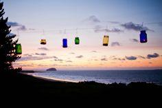 The hanging tealights at sunset. Log Cabin Wedding, Fine Art Wedding Photography, Wedding Details, Tea Lights, Sunset, Gallery, Outdoor, Outdoors, Roof Rack