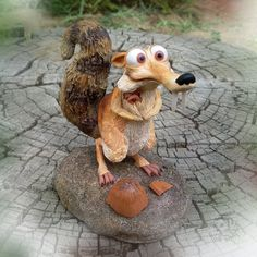 Squirrel Scrat from Ice Age - Handmade figurine made of polymer clay