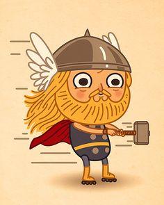 Adorable Illustrations Of Pop Culture & Cartoon Characters - DesignTAXI.com