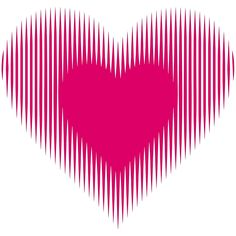 My Heart Beats For You! In this Op Art work, the heart appear to beat and expand! Magic… © Gianni A. Sarcone, giannisarcone.com