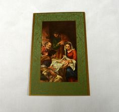 Vintage Christmas Nativity Card  Unsigned by BananaSkirtBrigade, $1.25