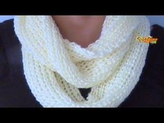 Brioche Stitch Scarf en 2 agujas o palitos Loom Knitting, Knitting Stitches, Knitting For Beginners, Cowl, Scarf Infinity, Youtube, Pattern, Handmade, Cactus