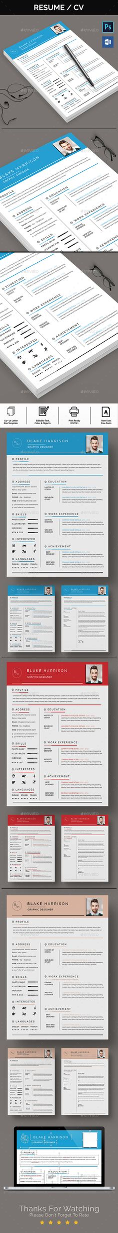 Clean ResumeCV Resume cv Template
