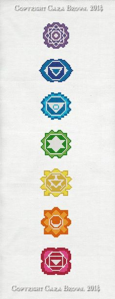 Chakras Cross Stitch Pattern Instant Download by TheElfinForest