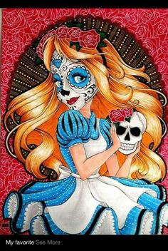 Alice In Wonderland- Day Of The Dead Mask. : )