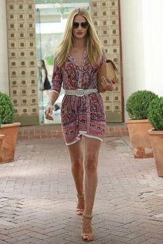 Rosie Huntington Whiteley Street Style   Harper's Bazaar