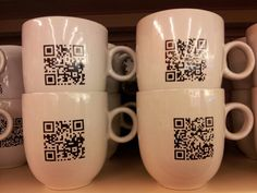 Coffee mugs with a funny message. Funny Messages, Qr Codes, Coffee Cups, Mugs, Tableware, Projects, Log Projects, Funny Texts, Coffee Mugs