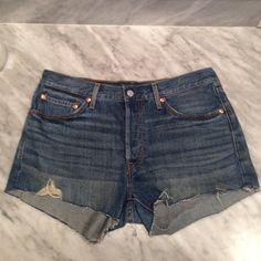 Levi jean shorts Never worn, cut offs Levi's Shorts Jean Shorts