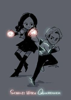 "Scarlet Witch and Quicksilver ""He's fast and she's weird"" #quicksilverlives"