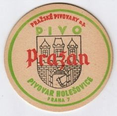 Coaster from Czechoslovakia