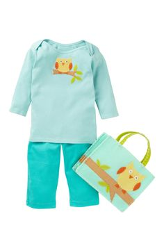 Best of Chums Owl Tee, Pant, & Tote Set