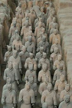 Emperor of Qin's Terracotta army buried in 209-210 BC in Xian