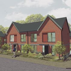 JMA Johnson Brook receives planning permission. Red brick and feature corner units