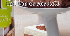 Un tort spectaculos de ciocolata, cu blat pufos de cacao si trei feluri de creme fine si absolut delicioase! Pentru cei ce... Cereal, Breakfast, Food, Style, Pies, Morning Coffee, Swag, Eten, Meals