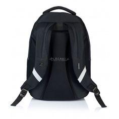 37b9a9667f5d2 Plecak młodzieżowy HEAD czarny HD-68 B czarny gładki plecak, plecak męski,  plecak