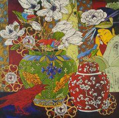 Grant Leier Artwork Display, Wow Art, Arte Popular, Still Life Art, Cool Paintings, Botanical Art, Asian Art, Painting Inspiration, Art Images
