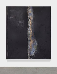 untitled, 2018 patina, oil stick, solder on solid bronze sheet, mounted on aluminum frame 79 x 67 inches x cm) Artist: Hugo McCloud. Multimedia Artist, Urban Landscape, Contemporary Art, Art Photography, Art Gallery, Bronze, Abstract, Metal, Oil