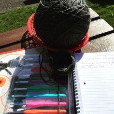 #sunshine #crochet #hooks #favouritething #yarn #colourful #crochetforlife #enjoyingthesun #amigurumi #sphere  Making a ball for size reference in the  by chroniccrochet