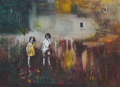 "Saatchi Art Artist Tanja Vetter; Painting, ""Damals  (SOLD)"" #art"