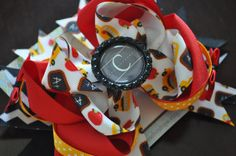 Back to School Bottle Cap Bow by threepeasboutique on Etsy, $9.50