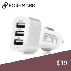 Triple USB Car Charger for iPhone & Samsung Charge up to 3 devices at the same time very efficient also charges tablets GPS and any USB device S.Tech Accessories