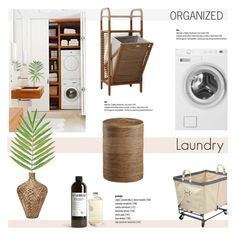"""Organized: Laundry"" by helenevlacho ❤ liked on Polyvore featuring interior, interiors, interior design, home, home decor, interior decorating, Home Decorators Collection, Home, design and decor"