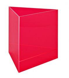 Boîte de présentation triangulaire, rouge