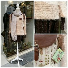 Brown dress outfit for a walk by Cuca Boutique