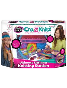 Shimmer & Sparkle Cra-Z-Kitz Knitting Station product photo Crafts For Kids, Arts And Crafts, Toy Craft, Play Doh, Toys Shop, Craft Sale, Christmas Presents, Baseball Cards, Knitting