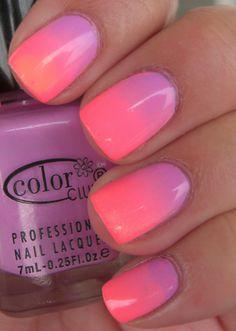 Handtastic Intentions: Nail Art: Pastel Summer Neon Gradient #nailpolish #handtasticintentions #BBWanderlust