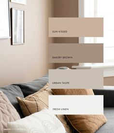 Room Ideas Bedroom, Home Decor Bedroom, Home Living Room, Living Room Decor, Beige Living Rooms, Living Room Colors, Bedroom Color Schemes, Colour Schemes, Warm Bedroom Colors