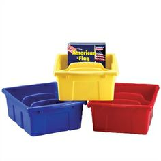 Lifetime Divided Tubs - Guaranteed-for-life tubs with three divided sections keep books standing tall! Can be used on your shelf or in conjunction with one of two Create-a-Carts!