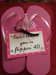 DIY gift idea.  Made these for my sister's 40th birthday.