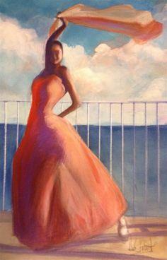 ARTFINDER: Flamenco Dancer Waving Scarf - I have just published Flamenco Dancer Waving Scarf on Artfinder
