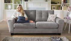 Designed exclusively for Sofaworks, our Pronto sofa showcases a new soft pastel colour range, taking this seasons trend inspirations and design led couture into your home. The intricate button back detail combined with the sophisticated floral scatter cushions makes this fabric sofa a must have for any home. The contrasting dark wood feet finish off this sleek, practical design, whilst offering extra stability and support. The tapered arm, high back and thick soft seat cushions provide the…