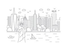 New York, New York by McGuire Design | Dribbble