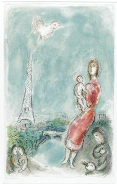 "LE SAOUL/"" GREAT COLOR offset Lithograph 1972 Vintage MARC CHAGALL /""THE DRUNKARD"