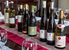 Line-up of Viogniers