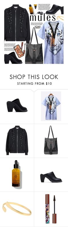 """""""Yoins -  Slip 'Em On: Mules"""" by beebeely-look ❤ liked on Polyvore featuring IRO, Bobbi Brown Cosmetics, Teeez, Casetify, laceup, mules, streetwear, StreetChic and yoinscollection"""