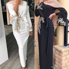 错误 2019 arabic muslim lace beaded evening dresses crew coat with long . Muslim Evening Dresses, Hijab Evening Dress, Hijab Dress Party, Maxi Dress Wedding, Muslim Dress, Prom Dresses Long With Sleeves, Cheap Prom Dresses, Formal Dresses, Sleeve Dresses