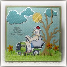 "Art Impressions AI People ""Lawn Ranger"" masculine birthday card"