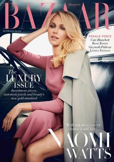 Naomi Watts for Harper's Bazaar Australia May 2014