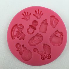 baby stroller mold hand bottle Trojan silicone mold soap, chocolate fondant cake decoration baking kitchen tool FT-300