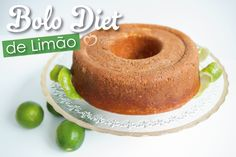 Bolo diet de limão - Blog da Mimis Low Carb Recipes, Vegan Recipes, Vegan Food, Bolo Diet, No Sugar Desserts, Diet Cake, Lemon Diet, Healthy Style, Sweet Recipes