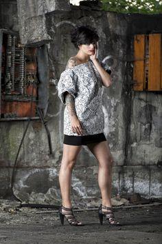 #gabrielladeplano #fashion #collection2013 # tshirt #print #moda #madeinitaly #black #double #haori #japanese