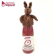 Eva's Woolly Kangaroo. Smoothie Company, Innocent Drinks, Big Knits, Finger Puppets, Fruit Smoothies, Fundraising, Charity, Knitted Hats, Pure Products